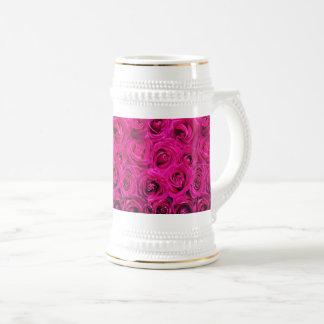 Rosas de encargo de Borgoña de la taza blancos por
