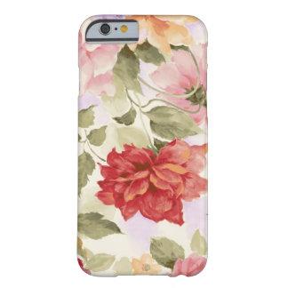 Rosas de la acuarela del vintage funda de iPhone 6 slim