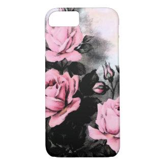 Rosas de la oscuridad del vintage funda iPhone 7