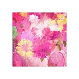 Rosas de la primavera impresión en lienzo
