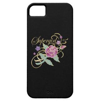 Rosas de lujo de Supergirl iPhone 5 Case-Mate Coberturas