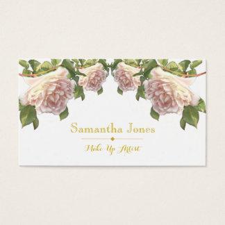 Rosas de marfil del melocotón - tarjeta de visita