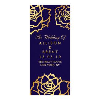 Rosas de oro que casan el programa - azul