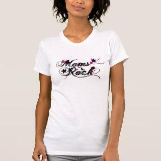 Rosas de roca de las mamáes camiseta