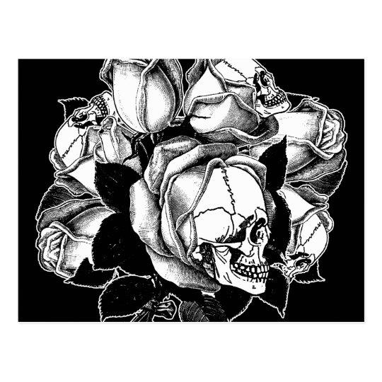 Rosas del cráneo postal