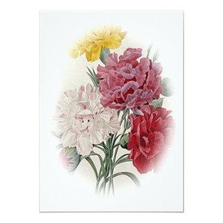 Rosas del cumpleaños - la suavidad afiló óvalo invitación 12,7 x 17,8 cm