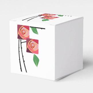 Rosas del nouveau del arte caja de regalos