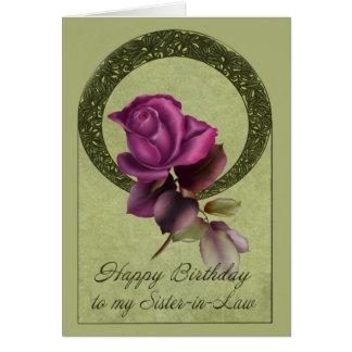 Rosas del país tarjeta de felicitación