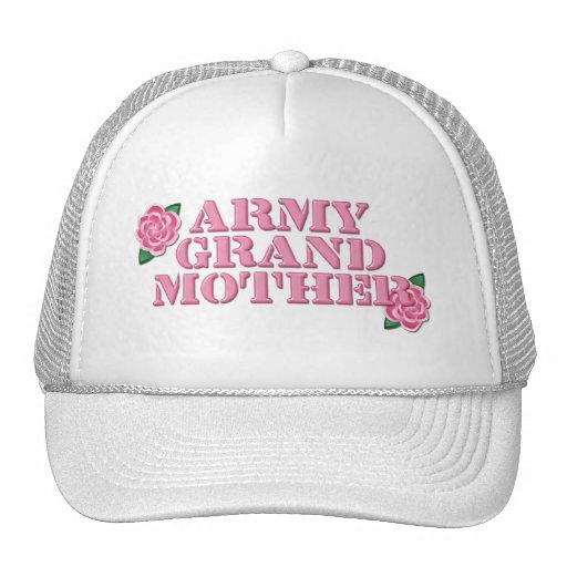 Rosas del rosa de la abuela del ejército gorro