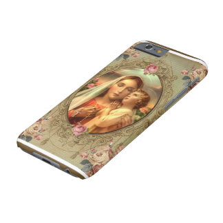 Rosas del rosario de Jesús del niño de Madonna del Funda Barely There iPhone 6