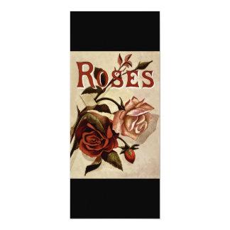 Rosas del vintage invitación 10,1 x 23,5 cm
