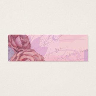 Rosas del vintage, tarjeta de la señal
