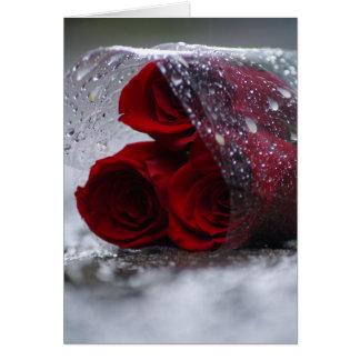 Rosas desechados tarjeta de felicitación