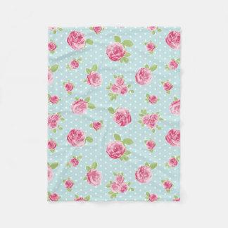 Rosas elegantes lamentables de la manta floral del