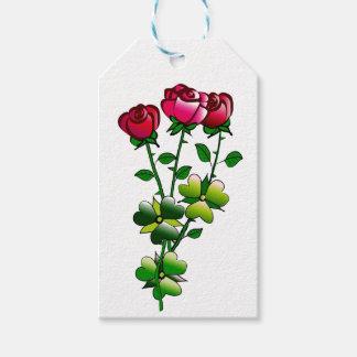 Rosas en el Etiqueta-Espacio del regalo para el Etiquetas Para Regalos