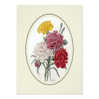Rosas en un soporte oval clásico invitación 13,9 x 19,0 cm