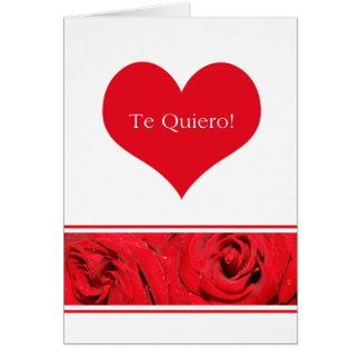 Rosas españoles del el día de San Valentín Tarjeta De Felicitación