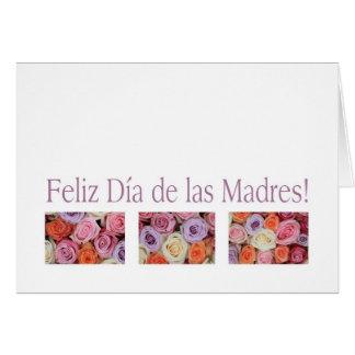 rosas españoles del pastel de la tarjeta del día d