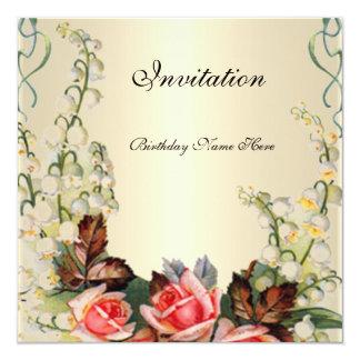 Rosas florales bonitos del Victorian de la Invitación 13,3 Cm X 13,3cm