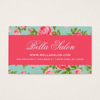 Rosas florales del vintage elegante elegante tarjeta de visita