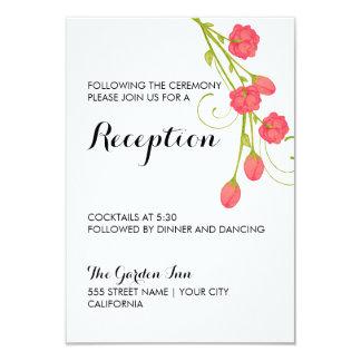 Rosas fucsias del jardín - tarjeta de la recepción invitación 8,9 x 12,7 cm