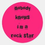 rosas fuertes del pegatina de la estrella del rock