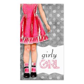 Rosas fuertes femeninas de la muñeca del chica de  tarjetas de negocios