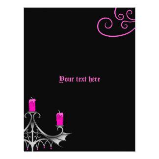 Rosas fuertes góticas de lujo de los candelabros flyer personalizado
