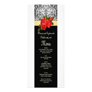 Rosas grises del damasco, rojos negros que casan e invitaciones personales