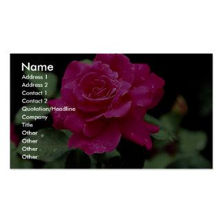 """Rosas híbridos paz del rosa"""" del rosa de té de la  tarjetas de visita"""