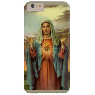 Rosas inmaculados de la llama del Virgen María del Funda Barely There iPhone 6 Plus