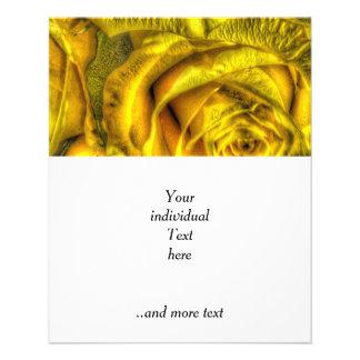 Rosas magníficos, amarillos folleto 11,4 x 14,2 cm