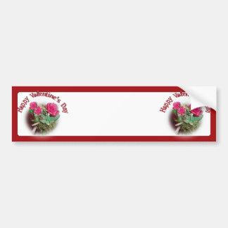 Rosas para el el día de San Valentín Pegatina Para Coche
