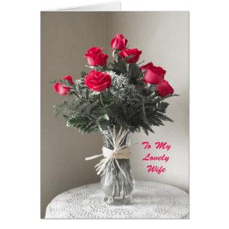 Rosas para mi esposa en tarjeta del día de madres