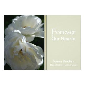 Rosas para siempre en nuestra ceremonia invitación 12,7 x 17,8 cm