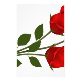 Rosas provenidos largos papelería