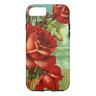 Rosas rojos del vintage funda iPhone 7