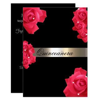 Rosas rojos, invitación de encargo de Quinceanera