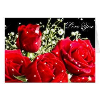 Rosas rojos, Love_ Tarjeta De Felicitación