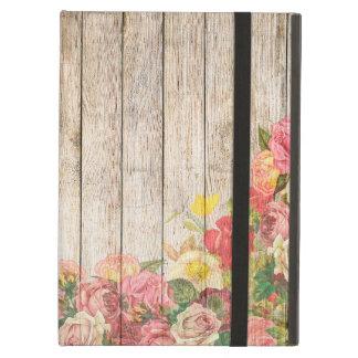 Rosas románticos rústicos del vintage de madera