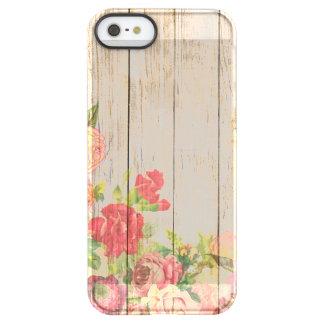 Rosas románticos rústicos del vintage de madera funda permafrost® para iPhone SE/5/5s