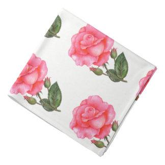 Rosas rosados del pañuelo de las señoras bandana