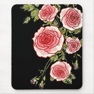 Rosas rosados Mousepad del vintage Alfombrilla De Ratón