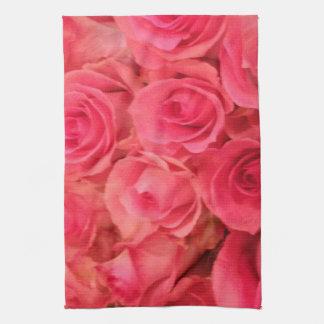 Rosas rosados paño de cocina