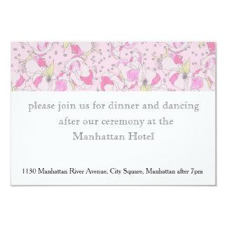 Rosas rosados románticos del boda en acuarela invitación 8,9 x 12,7 cm