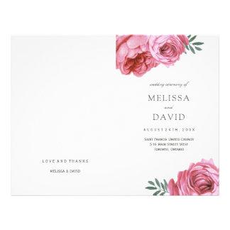 Rosas rosados románticos que casan programas