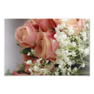Rosas rosados suaves y la respiración del bebé impresiones fotograficas