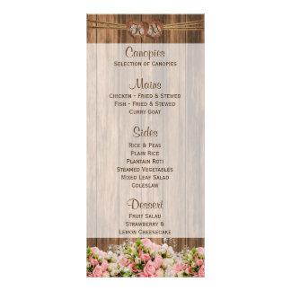 Rosas rosados y blancos hermosos en la madera - tarjeta publicitaria