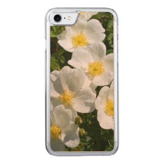 Rosas salvajes blancos funda para iPhone 8/7 de carved