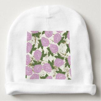 rosas y pintura de la peladura gorrito para bebe